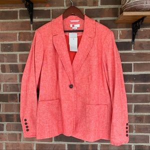 NWT Boden cotton linen blend blazer jacket
